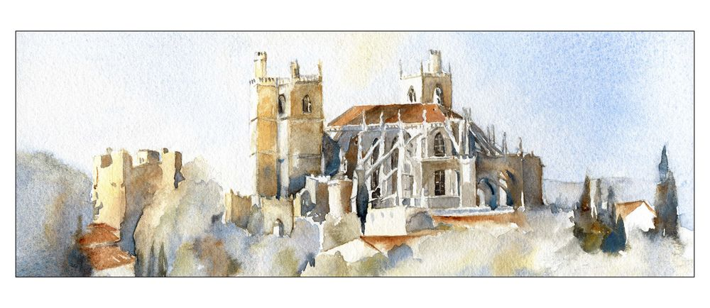 narbonne-cathedrale-aquarelle-nar-025